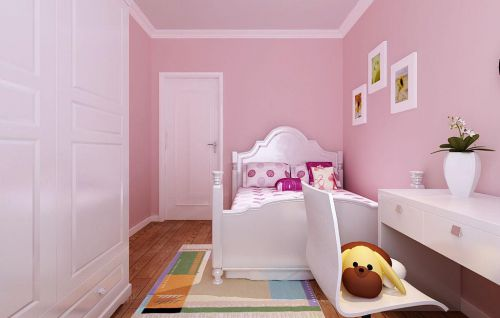 现代简约三居室儿童房衣柜装修效果图欣赏