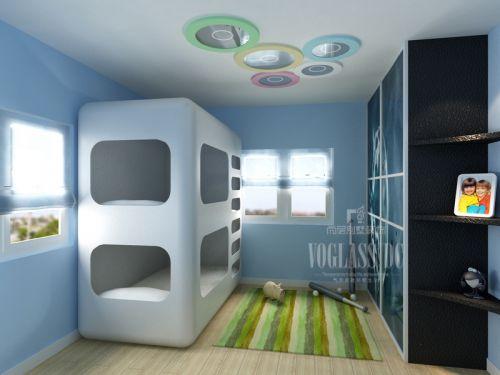 现代简约别墅儿童房装修效果图