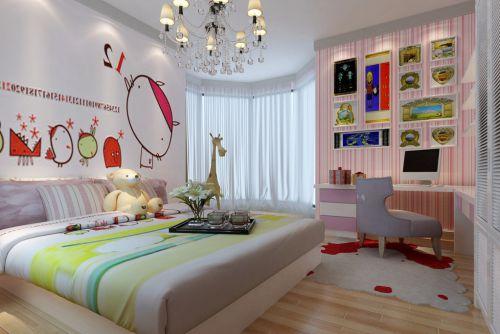 三居室现代风格大空间儿童房装修效果图