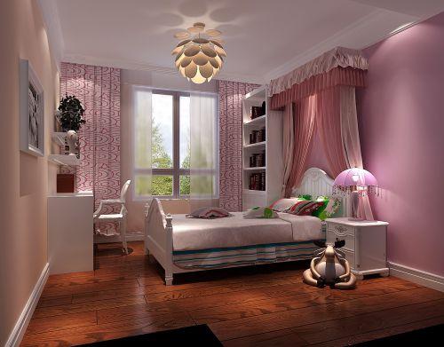 现代简约三居室儿童房吊顶装修效果图