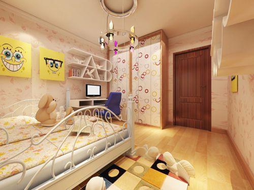 现代简约一居室儿童房衣柜装修图片