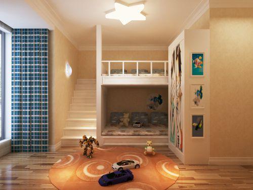 现代简约三居室儿童房照片墙装修效果图欣赏