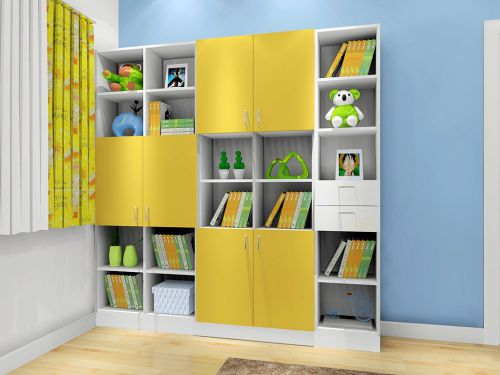 现代简约风格儿童房趣味书架装修效果图