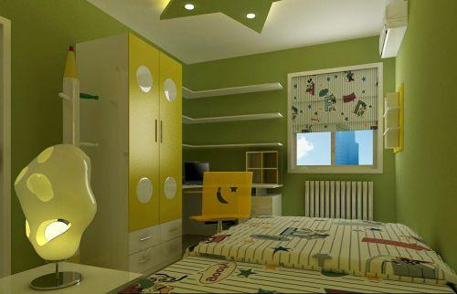 现代简约二居室儿童房吊顶装修效果图欣赏