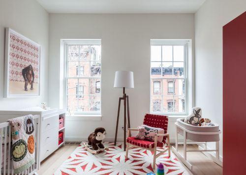 红色现代简约特色儿童房装修效果图