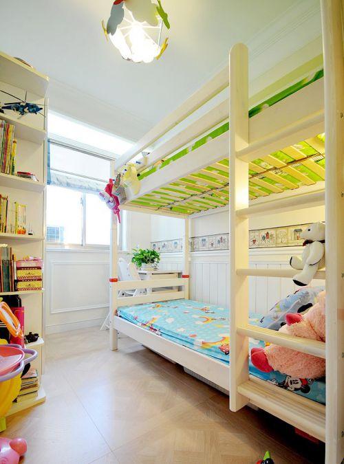 现代简约三居室儿童房书柜装修图片