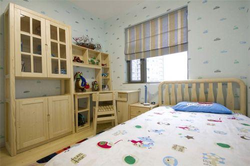 现代简约三居室儿童房窗帘装修效果图