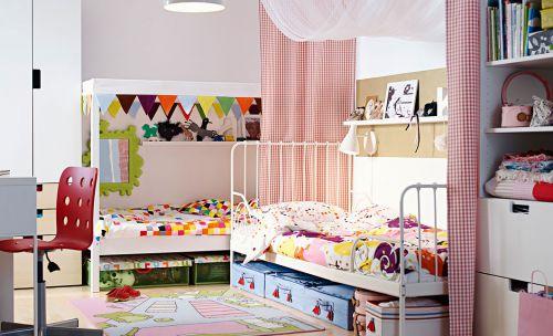 时尚现代风格四居室儿童放装修案例