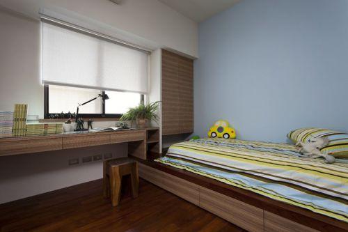 现代简约二居室儿童房组合柜装修效果图大全
