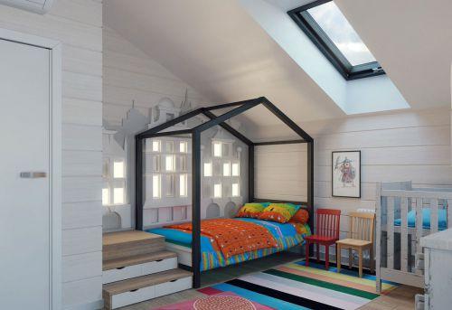 时尚现代风格别墅儿童房装修案例