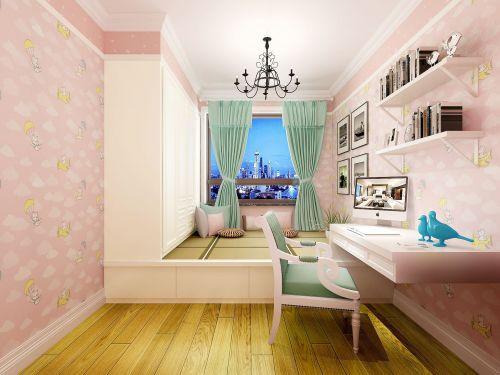 现代简约二居室儿童房榻榻米装修效果图大全