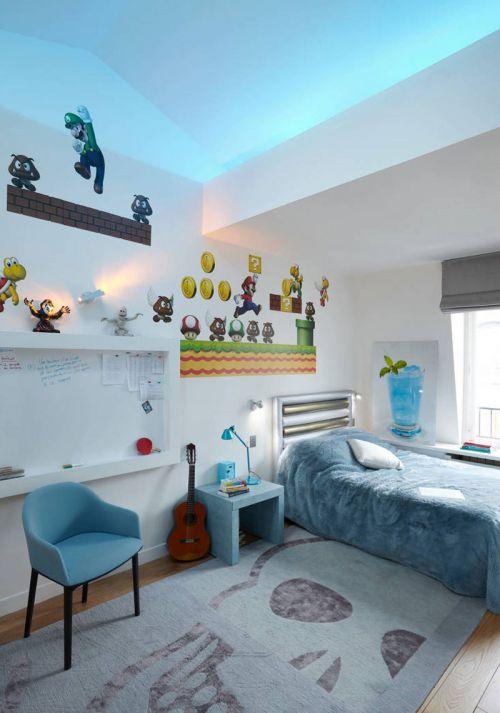 家装现代风格别墅儿童房装修效果图