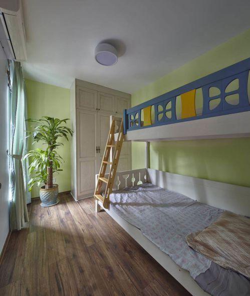家装现代风格儿童房上下床装修效果图