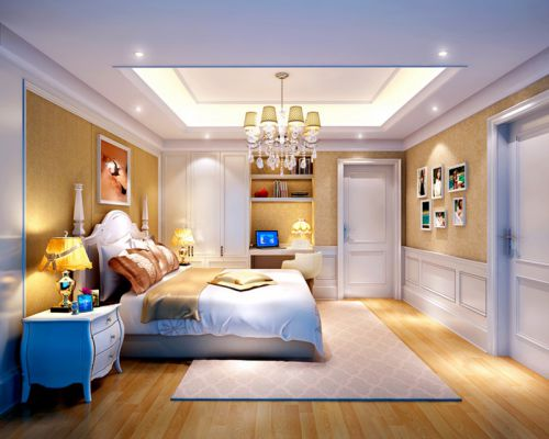 现代简约三居室儿童房床头柜装修效果图大全
