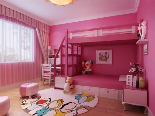 现代简约二居室儿童房窗帘装修效果图大全