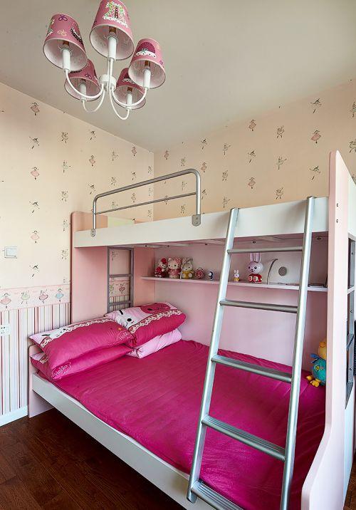 甜美现代风格儿童房亲子床装修案例