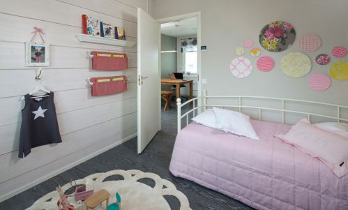 时尚现代风格儿童房背景墙设计图