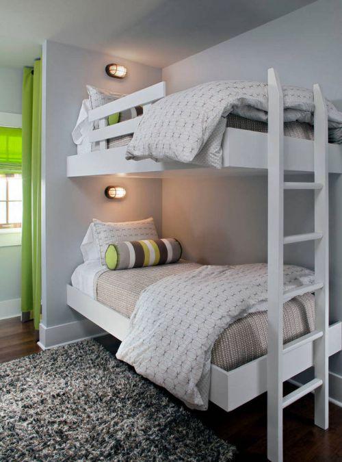时尚现代风格儿童房上下床效果图