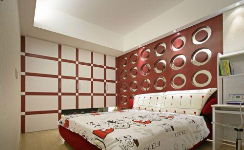 华丽现代风格儿童房背景墙效果图欣赏