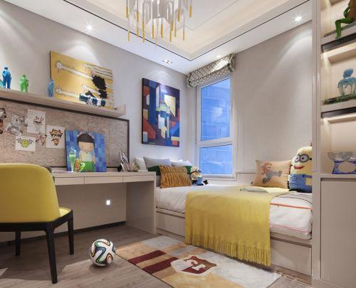 现代简约二居室儿童房床头柜装修效果图欣赏