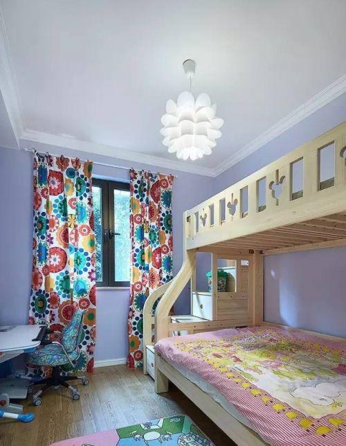 现代简约一居室儿童房婴儿床装修效果图