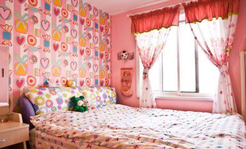 时尚现代风格儿童房背景墙效果图欣赏