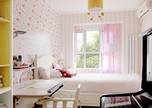 现代简约一居室儿童房照片墙装修图片