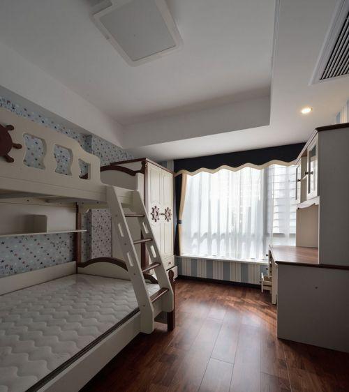 现代简约三居室儿童房床装修效果图欣赏