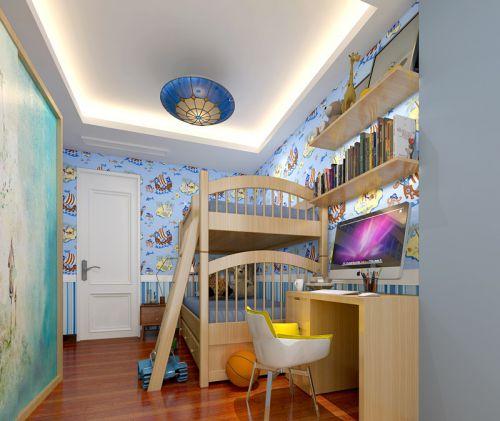 现代简约四居室儿童房床头柜装修效果图大全