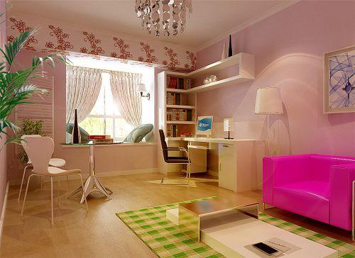现代简约三居室儿童房婴儿床装修效果图大全