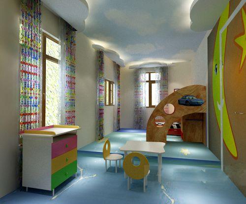 现代简约五居室儿童房装修效果图大全