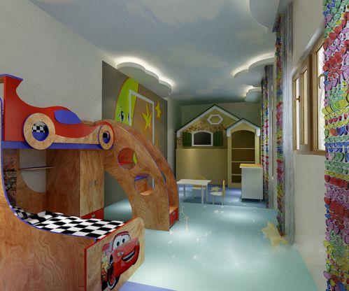 现代简约五居室儿童房装修图片欣赏