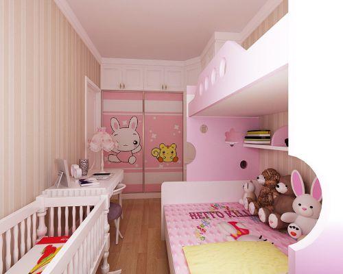 现代简约二居室儿童房壁纸装修效果图欣赏