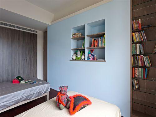 现代简约二居室儿童房书架装修效果图大全