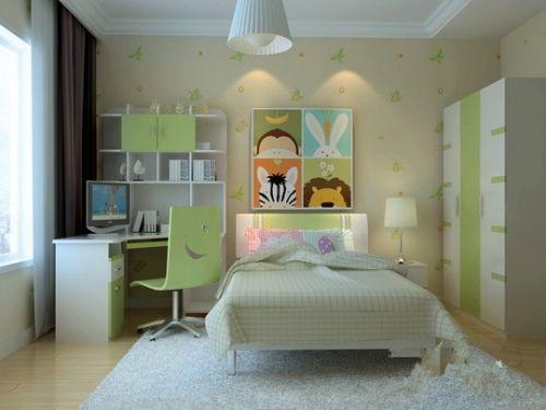 现代简约四居室儿童房衣柜装修效果图欣赏