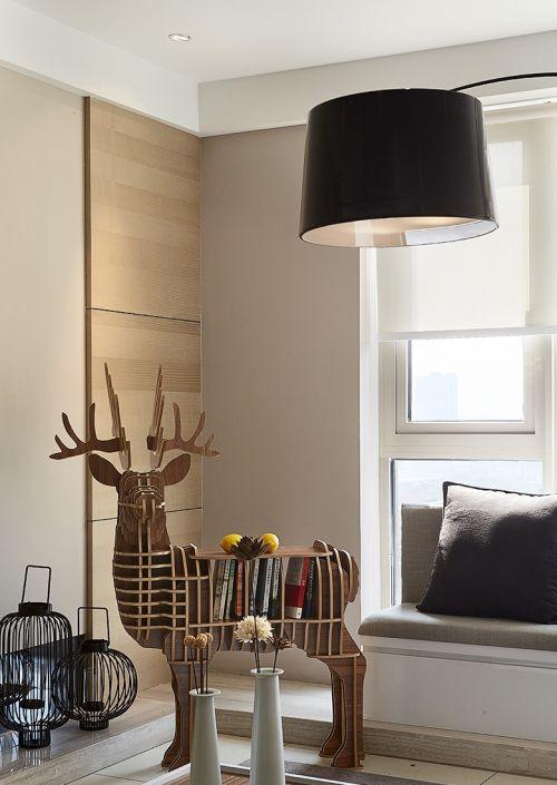现代简约二居室儿童房床头柜装修图片