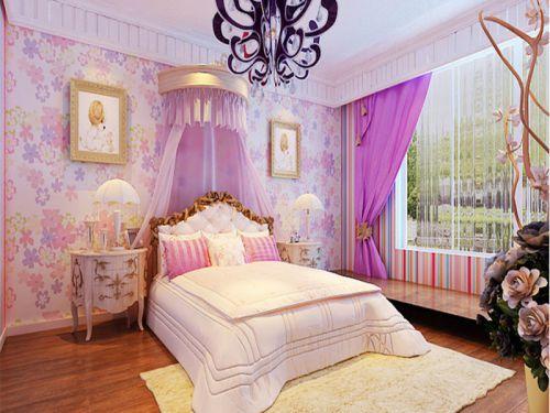 现代简约二居室儿童房飘窗装修效果图