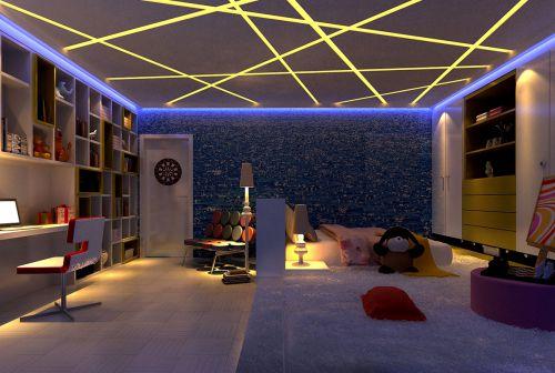 现代简约别墅儿童房婴儿床装修效果图欣赏