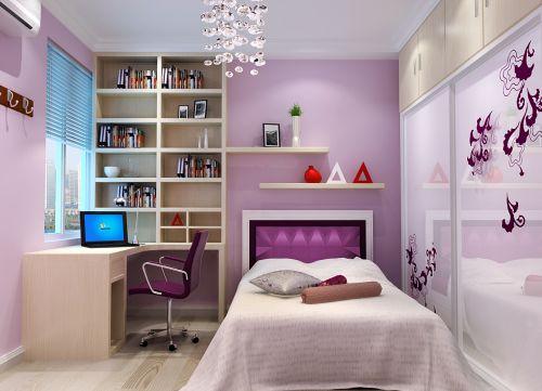 现代简约二居室儿童房婴儿床装修效果图欣赏