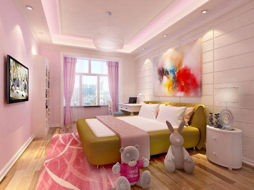 现代前卫三居室儿童房窗帘装修效果图