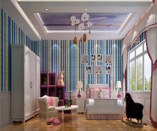 现代简约二居室儿童房衣柜装修图片