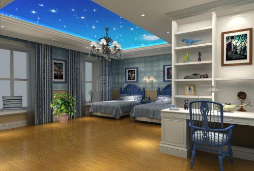现代简约五居室儿童房吊顶装修效果图大全