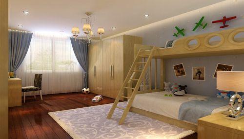 现代简约三居室儿童房装修效果图大全