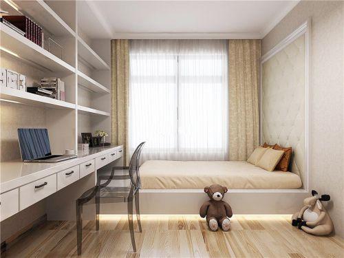 现代简约风格儿童房白色榻榻米装修图片