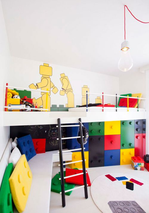 时尚现代风格彩色儿童房效果图欣赏