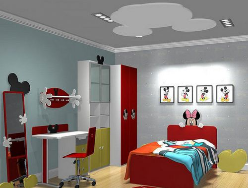 可爱现代风儿童房装修效果图