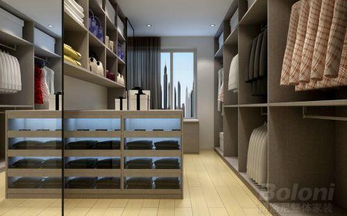 现代简约三居室衣帽间装修效果图大全