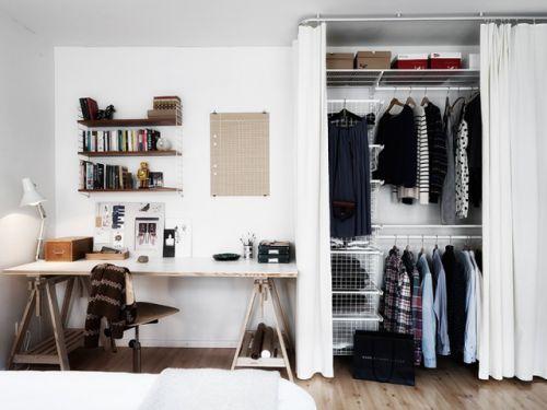 现代简约三居室衣帽间装修效果图