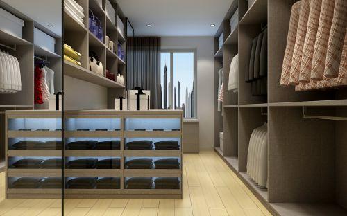 现代时尚三居室衣帽间装修效果图欣赏