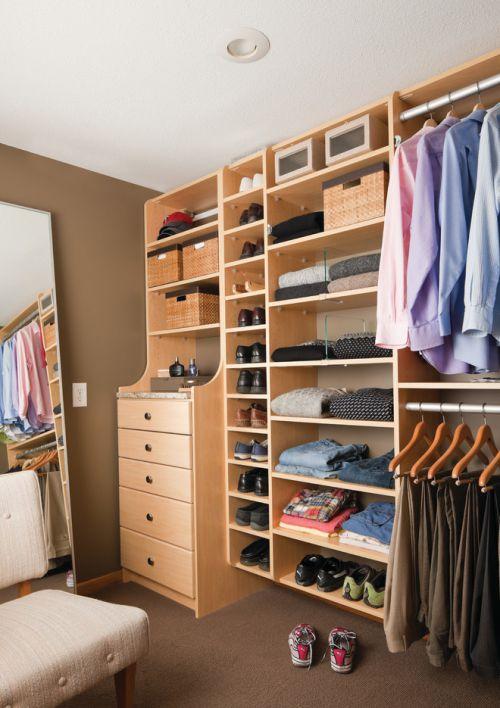 二居室现代简约风格衣帽间装修效果图